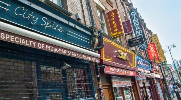 Brick Lane restaurants.