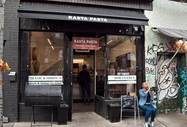Rasta Pasta restaurant, Kensington Market, Toronto.