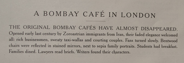 The original Bombay cafes sign.