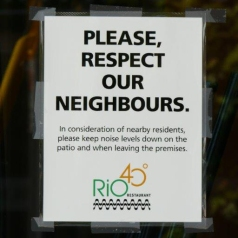 Rio 40 Patio season sign