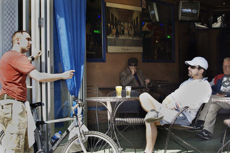 Cafe conversation on St. Clair W.
