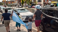 Argentina fans on St. Clair W.