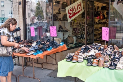 Shopping for shoes on St. Clair W.