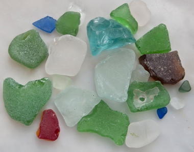 Beach glass.