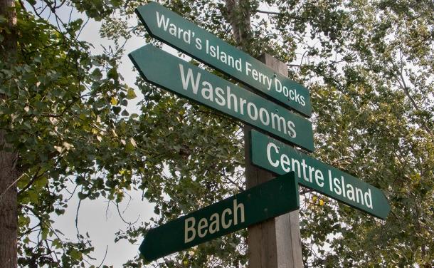 Island signpost.