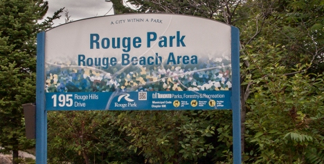 Rouge Beach Park sign.