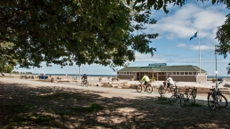 Woodbine beach bath house.