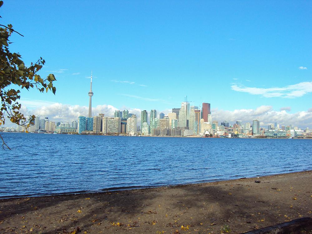 City skyline view.