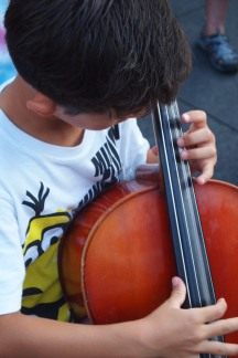 Small cellist.