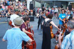 Cellos.
