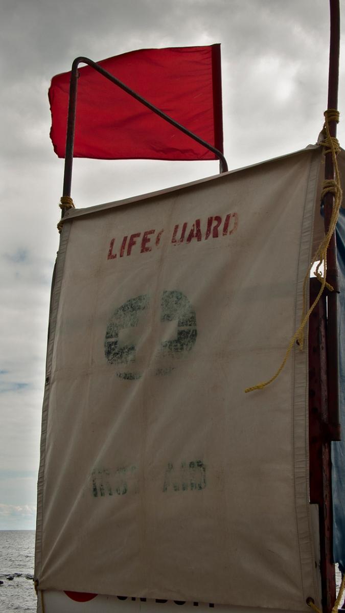 Red flag at Kew beach.