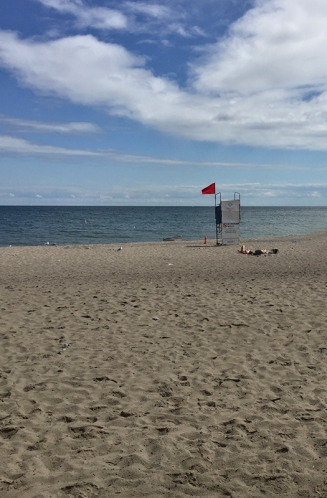 Red flag at Woodbine beach.