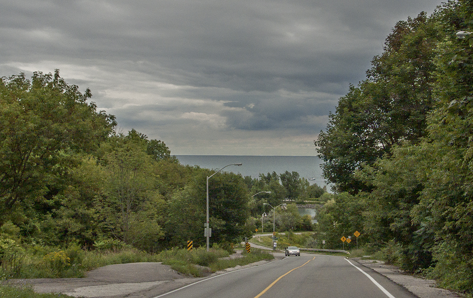 Road to Bluffer's Park.