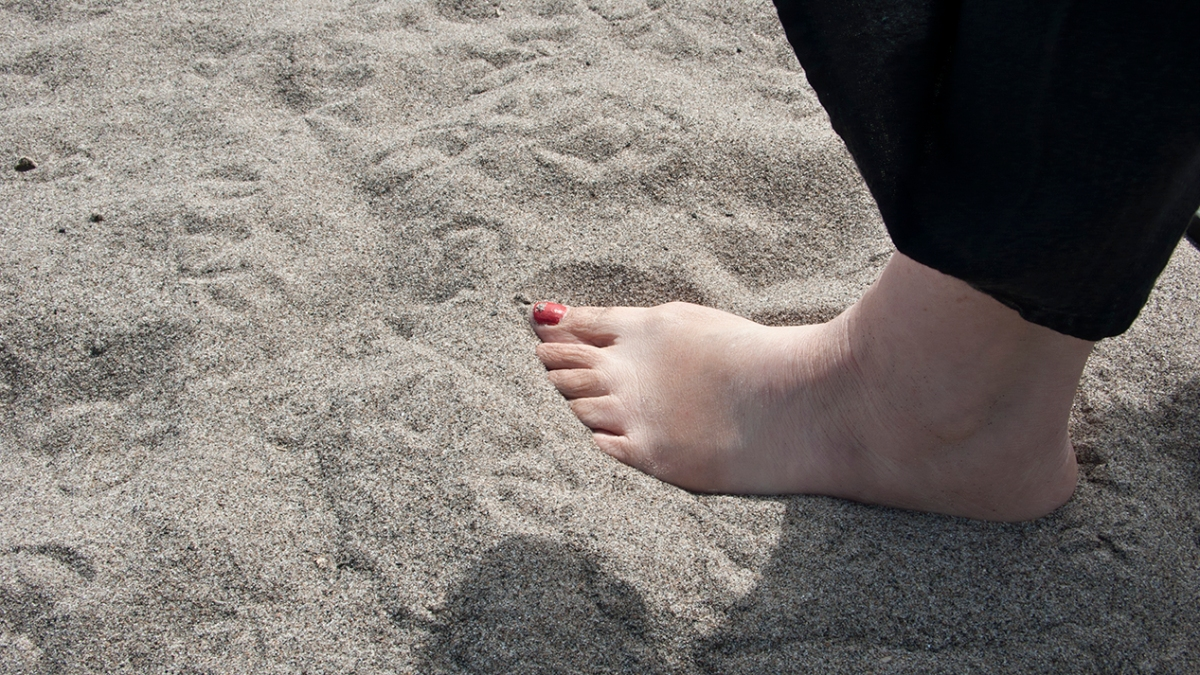 Sand texture Woodbine beach.