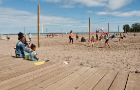 Volleyball at Woodbine beach.