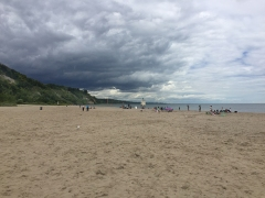 Beach and bluffs at Bluffer's park.