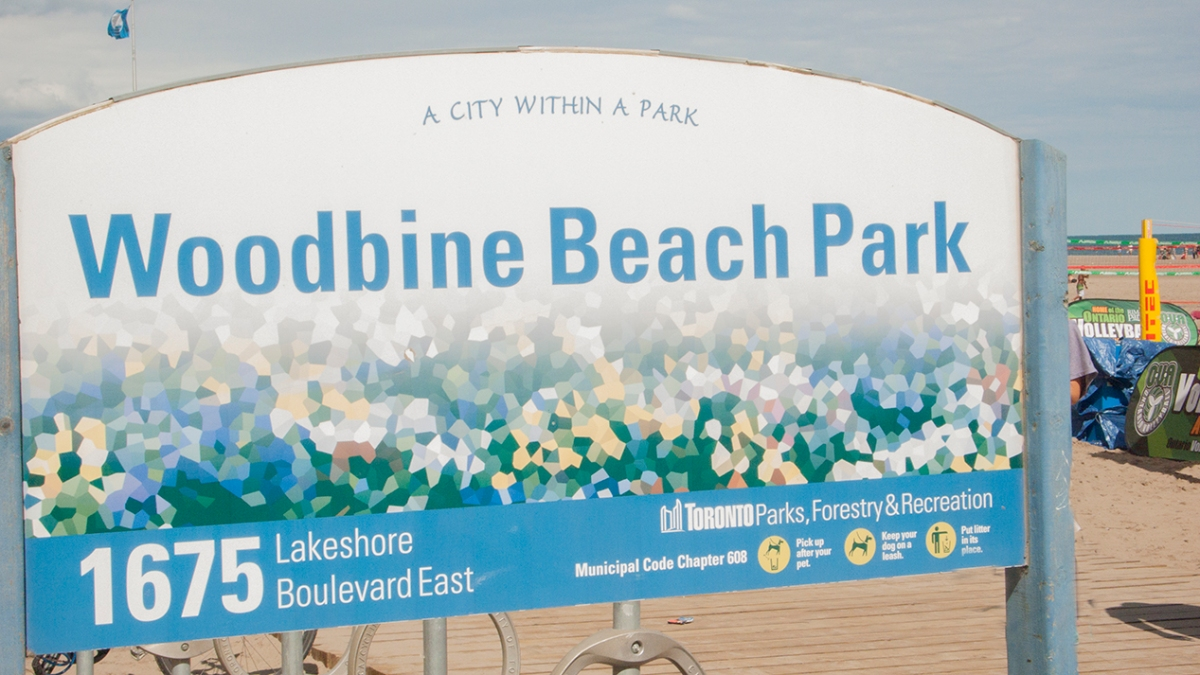 Woodbine beach sign.