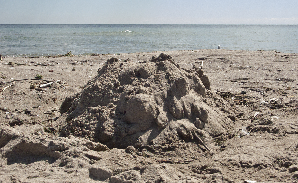 Yesterday's sand castle.