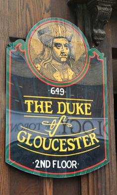 duke gloucester sign