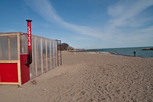 Sauna on Toronto beach.