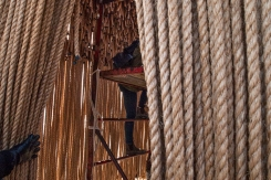 Climbing inside Floating Ropes.