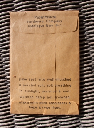 Grow your own Stein seed packet back.