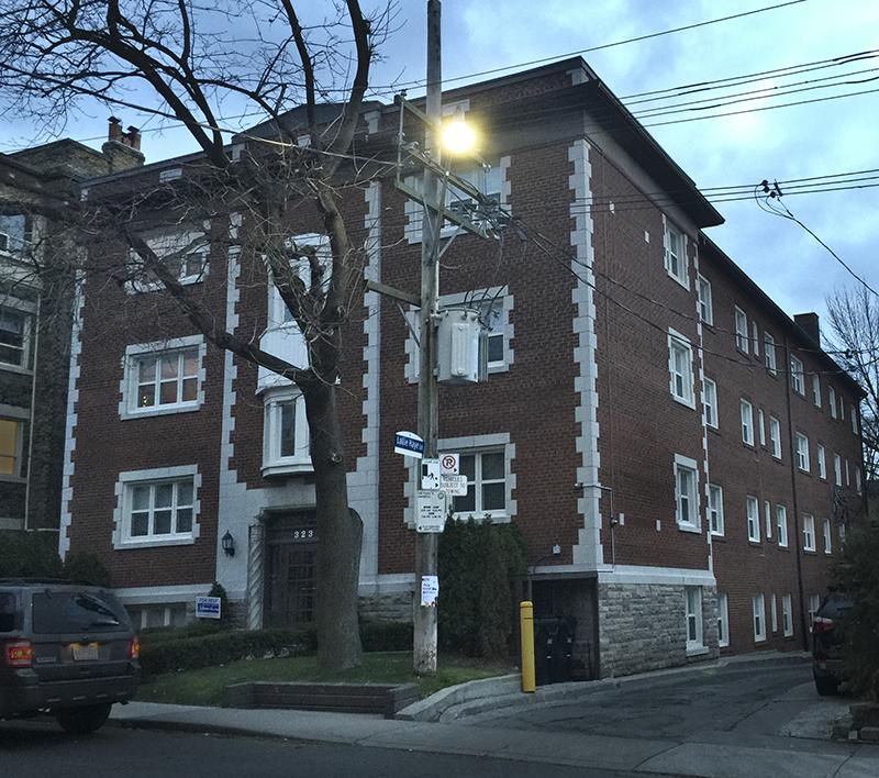 Low rise apartment building, Toronto.