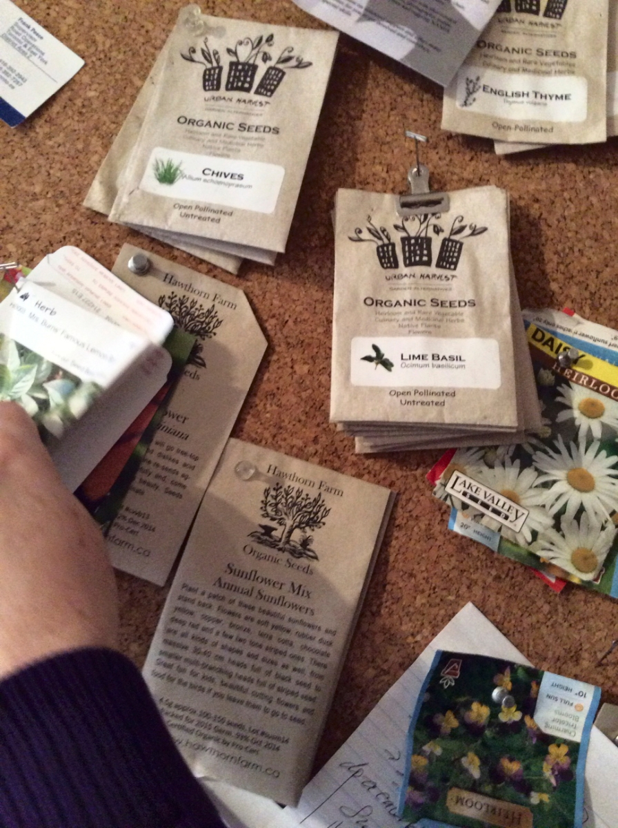 Seed packets.