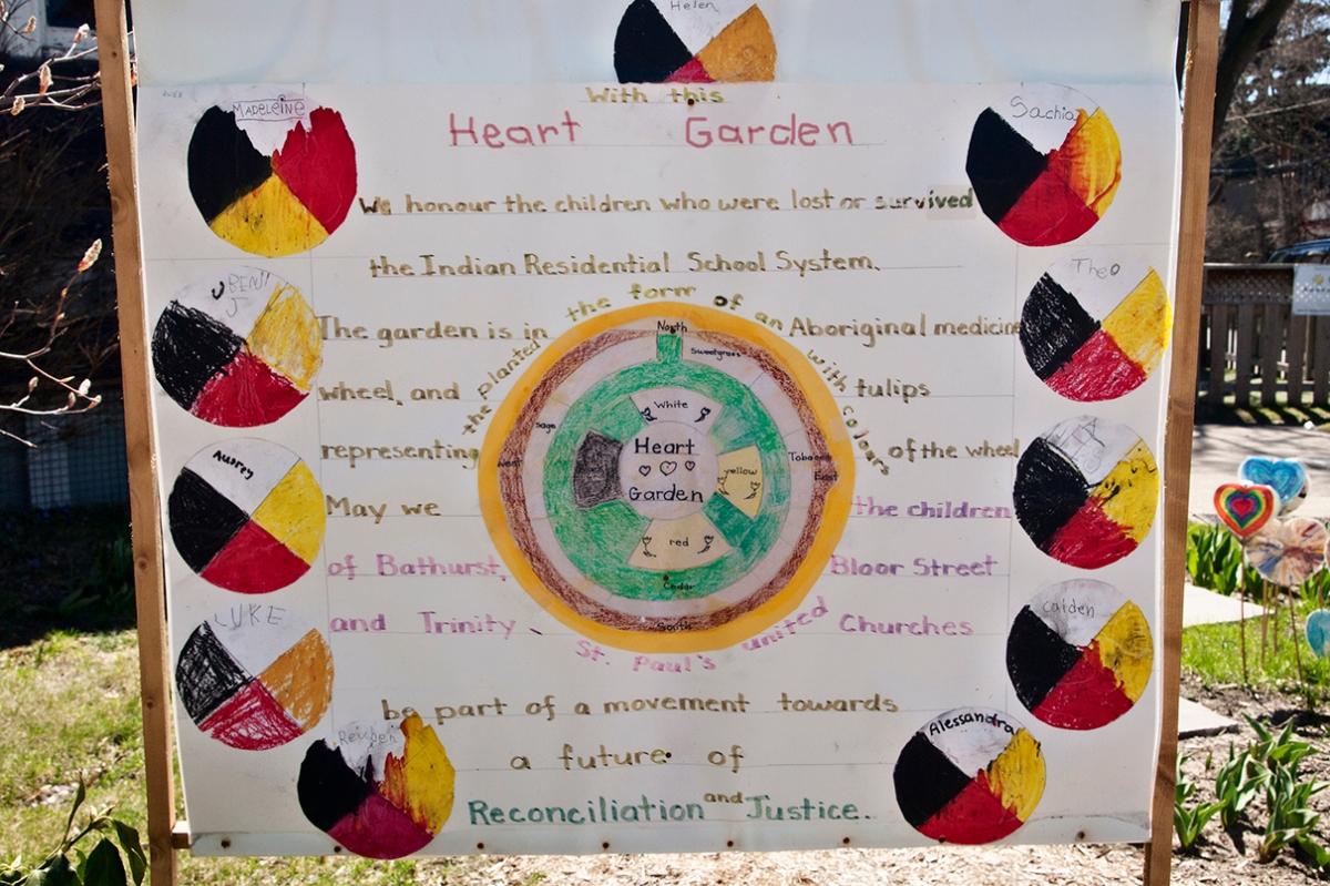 Heart Garden sign.