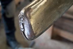 Bronze weld.