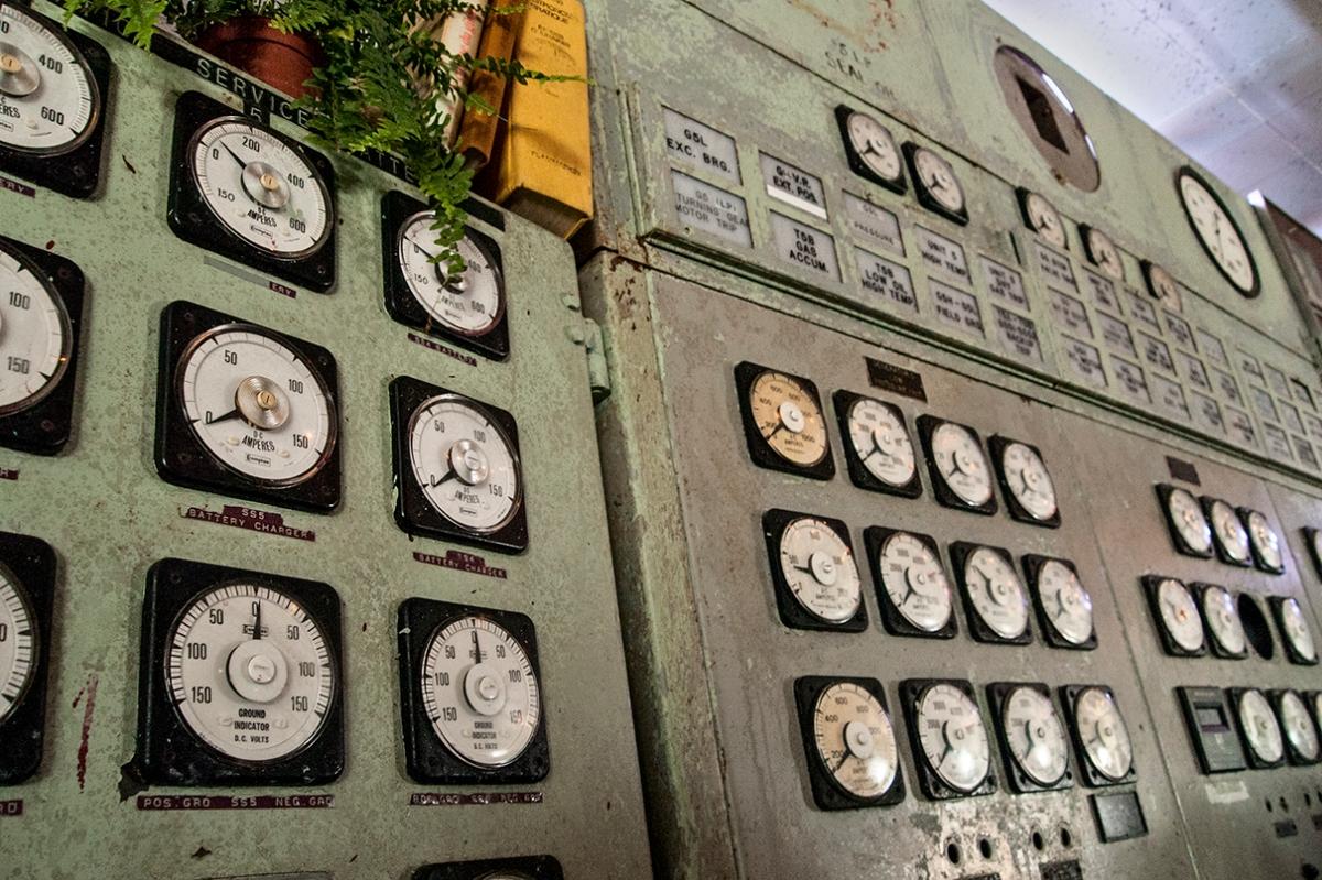 Control room panel in restaurant.