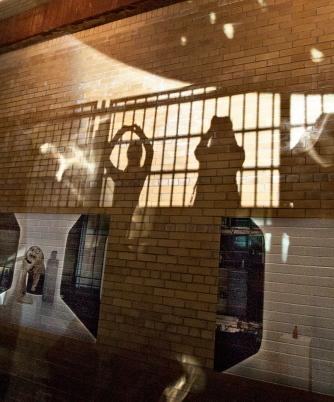 Wall shadows and art.