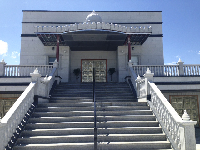 Front steps of Jain temple.