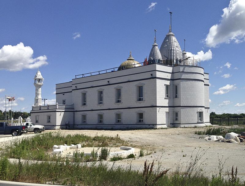Jain temple from rear.