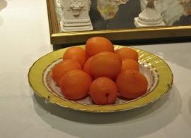 Marzipan apricots.