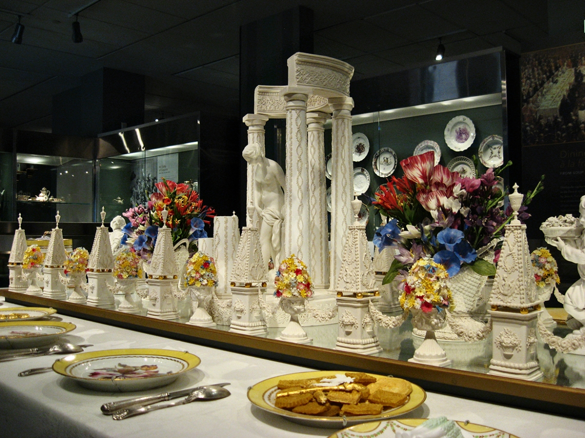 The Bishop's Table at the Gardiner Museum.