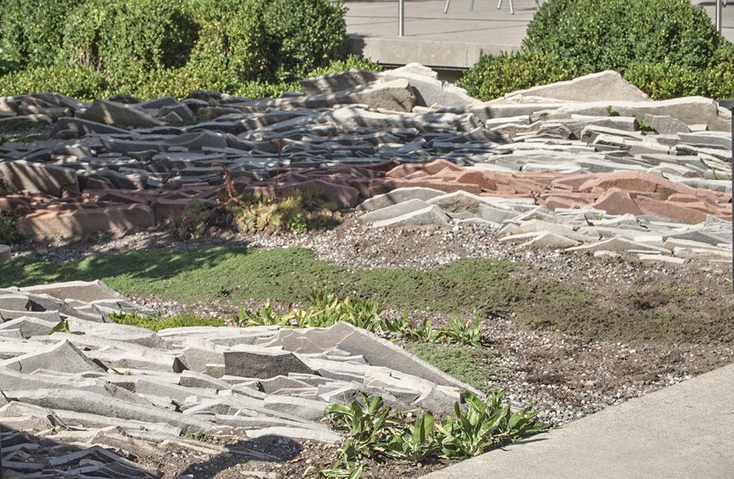 Gardiner Museum rock garden.