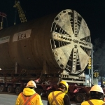 Lea the tunnel-boring machine.