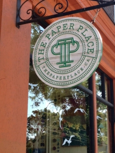 The Paper Place sign.
