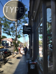 Type bookstore sign.