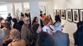 Havana opening, crowd in gallery.