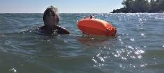 Swimming in Lake Ontario.