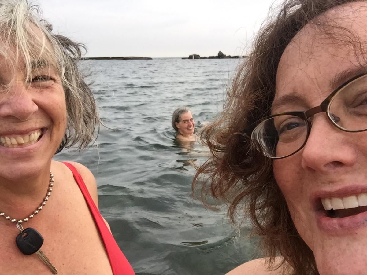 Three Sunnyside swimmers.