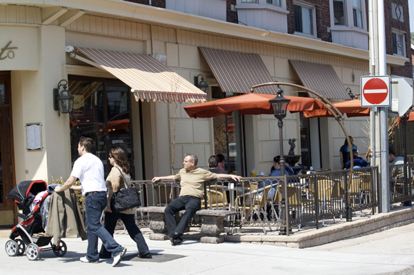 Novecentro cafe on St Clair W.