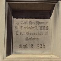 Vaughan Rd Academy cornerstone.