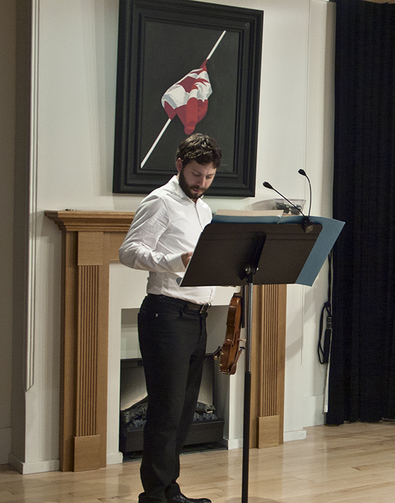 Violinist Aaron Schwebel.