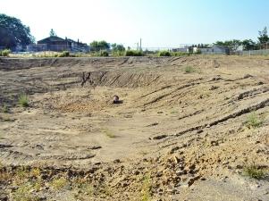 Empty hole left after destruction of Hughes P.S.