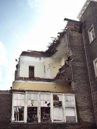 Open walls at Hughes P.S.
