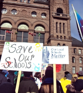 Save our Schools Queen's Park demonstration.