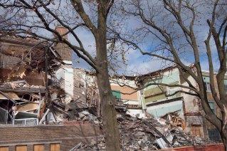 Collapsed school.